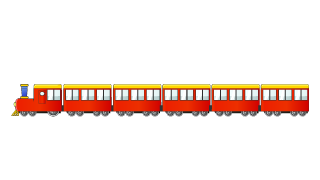 Red Train 6-car Cartoon