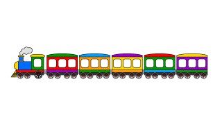 Colorful Train 6-Car Cartoon