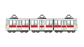 Train 3-Car Clipart