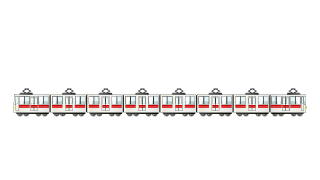 Train 8-Car Clipart