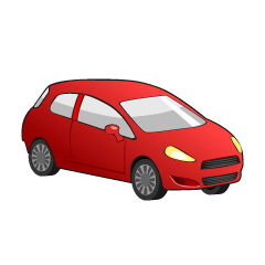 Red Compact Car Clipart