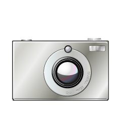Compact Digital Camera Clipart