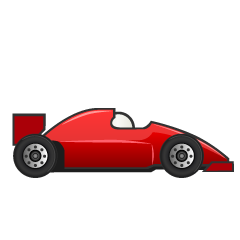 Red Racing Car Clipart