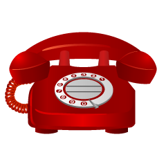 Red Telephone Clipart