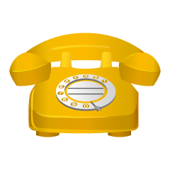 Yellow Telephone Clipart