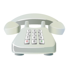 White Push Telephone Clipart