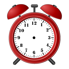 Red Alarm Clock without Hands Clipart