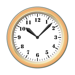 Wooden Wall Clock Clipart