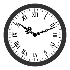 Simple Roman Numeral Clock Clipart