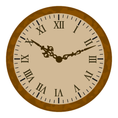 Antique Wall Clock Clipart