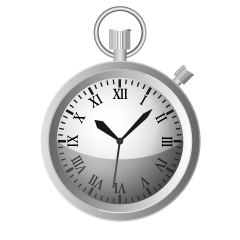 Silver Pocket Watch Clipart