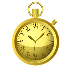 Gold Pocket Watch Clipart