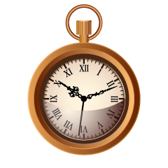 Bronze Pocket Watch Clipart