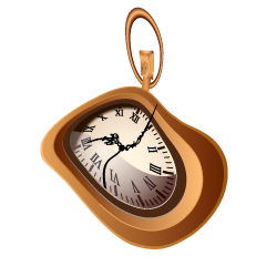 Distorted Space-Time Pocket Watch