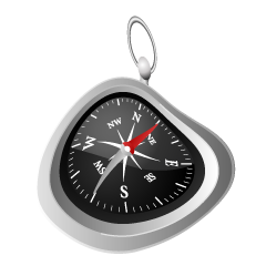 Distorted Compass Clipart