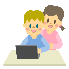 Boy and Girl Studying on Laptop