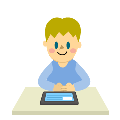 Boy Studying with Tablet