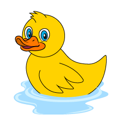 Floating Duck Clipart