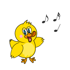 Singing Duck Cartoon