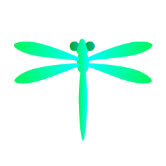 Green Dragonfly Clipart