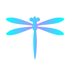 Light Blue Dragonfly Clipart