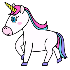 Walking Unicorn Clipart