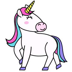 Smiling Unicorn Clipart
