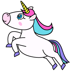 Jumping Unicorn Clipart