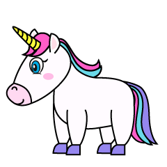 Cute Unicorn from Side
