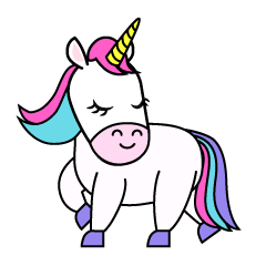 Cute Unicorn Turning Clipart