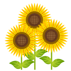 Bright Three Sunflower Clipart
