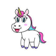 Girl Unicorn Clipart