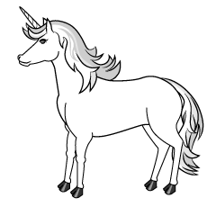 White Unicorn Clipart