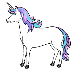 Colorful Unicorn Clipart