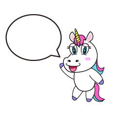 Speaking Unicorn Cartoon