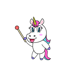 Explain Unicorn Cartoon