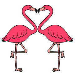 Heart Pink Flamingo Clipart