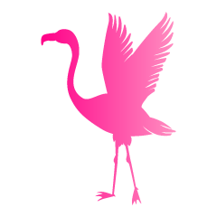 Fluttering Flamingo Pink Silhouette