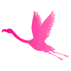 Flying Flamingo Pink Silhouette