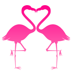 Heart Flamingo Pink Silhouette