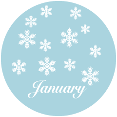 Falling Snow January Clipart