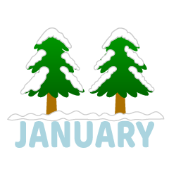 Snow Forest January Clipart