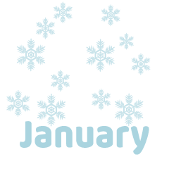 Snow January Clipart