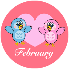 Owl Lover February Clipart
