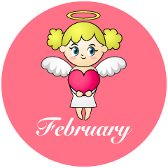 Love Angel February Clipart