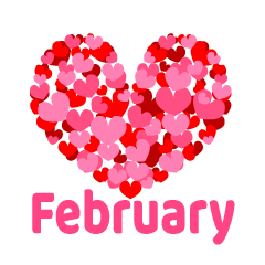 Many Hearts February Clipart