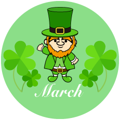 Cute Leprechaun March Clipart