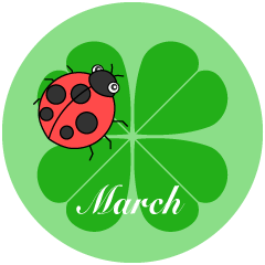 Four-Leaf Clover March Clipart