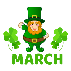 Leprechaun March Clipart