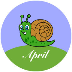 Snail April Clipart